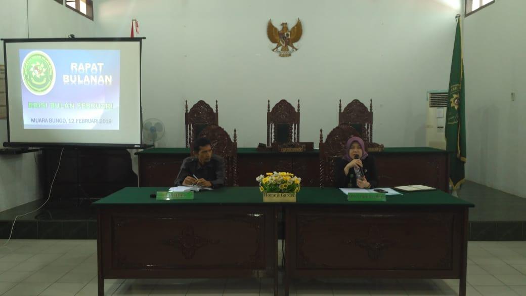 Briefing Edisi Februari 2019 dan Sosialisasi Pembangunan Zona Integritas di PN. Muara Bungo Kelas II